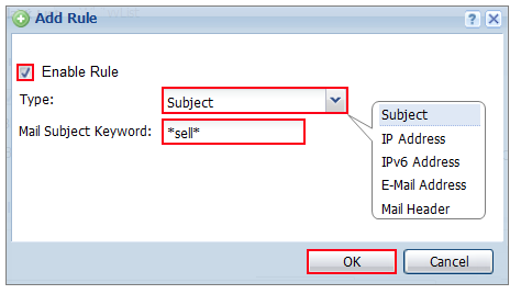 How To Configure an Anti-Spam Policy with Mail Scan and DNSBL