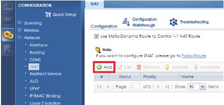 NAT-Rule-Configuration on a USG (Port Forwarding) – Zyxel